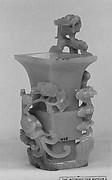 Beaker-Shaped Vase with Dragon and Phoenix (Hua Gu)