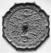 Mirror with Decoration of Phoenix and Flowers