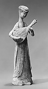 Figure of a Standing Woman Playing a Lute