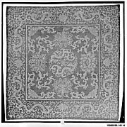 Furniture Cover with Lotus and Dragon Scrolls