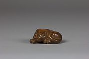 Netsuke of Recumbent Tiger