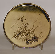 Plate with Chrysanthemum Design