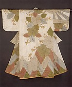 Robe (Kosode) with Cherry Blossoms and Cypress Fence