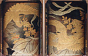Case (Inrō) with Design of Two Hō-ō Birds in Flight among Flowering Kiri Branches