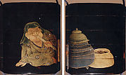 Case (Inrō) with Design of Man Blowing on a Brazier to Make Tea
