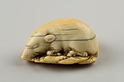 Netsuke of a Boar