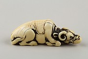 Netsuke of Recumbent Ox