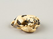 Netsuke of a Dog and a Fish