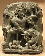 Vishnu Rescuing Gajendra, the Lord of the Elephants