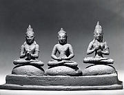 Buddhist Trinity on Cushions