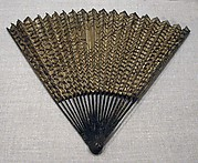 Folding Fan with Fishing Net Decoration