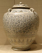Covered Jar with Four Lugs