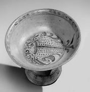 Stem Dish with Fish Design