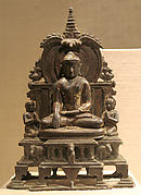 Miniature Shrine with the Enthroned Buddha