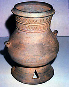 Pedestalled Jar with Two Handles