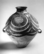 Jar with Spiral Decoration