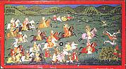 Maharana Sangram Singh II Hunts Hares at Naramangra