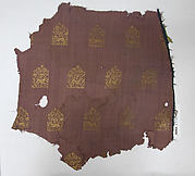 Textile Fragment: Brocaded Tabby with Pattern of Hares