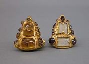 Pair of Ear Ornaments Inlaid with Stones