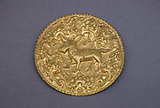 Disk or Subang Cover with Deer Surrounded by Foliate