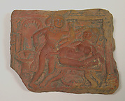 Plaque with Erotic Scene