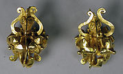 Pair of Large Hexagonal Ear Ornaments
