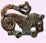Plaque in the Shape of a Tiger