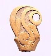 Carved Bone Finial