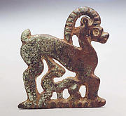 Plaque with Ibex and Kid
