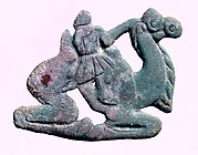 Belt Plaque in the Shape of a Bactrian Camel with Rider