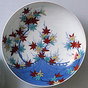 Dish with Design of Maple Leaves