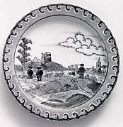 Plate with Dutch Landscape