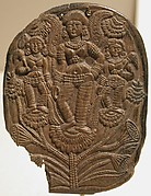 Plaque with a Winged Goddess and Two Attendants