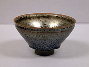 "Tea Bowl with ""Oil-Spot"" and ""Hare's-Fur"" Decoration"