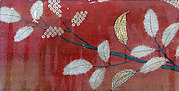 Pieces from a Kosode with Leafy Branches