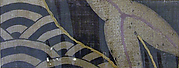 Piece from a Summer Kosode (katabira) with Partial Leaf and Stylized Waves