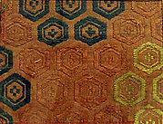 Textile with Floral Hexagons