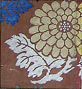 Textile with Partial Chrysanthemum
