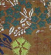 Textile with Autumn Grasses