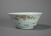 Bowl with Flowers and Waves