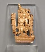 Openwork Panel Depicting a Door Guardian (Dvarapala)