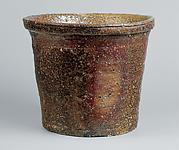 Pail-shaped freshwater jar (onioke mizusashi)