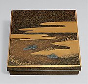 "Writing Box (Suzuribako) with ""Dream in Naniwa"" Design"