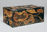 Sutra Box (Kyōbako) with Lotus Pond