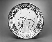 Ishizara Plate with Design of Horse and Spirals