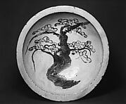 Ishizara Plate with Design of Pine Tree