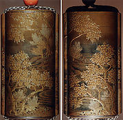 Case (Inrō) with Design of Blossoming Cherry Tree