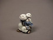 Child Carrying an Infant Netsuke