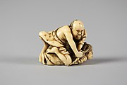 Netsuke of Two Wrestlers