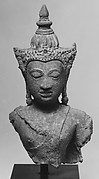 Crowned and Jewelled Bust of Buddha